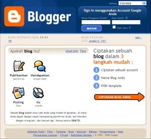 tampilan muka blogger