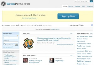 tampilan muka WordPress
