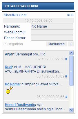 Kotak pesan di WordPress